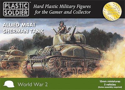 15mm Easy Assembly: Sherman M4a1 75mm Tank Box Front