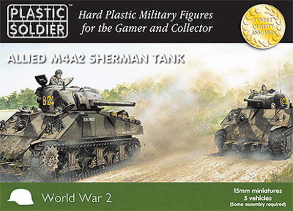 15mm Easy Assembly: Sherman M4a2 Tank Box Front