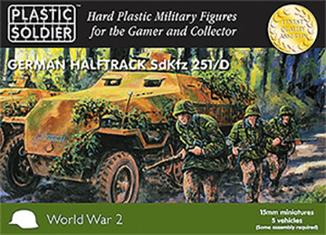 15mm Easy Assembly: German Sdkfz 251 Ausf D Halftrack Box Front