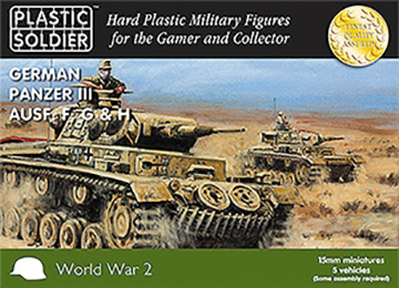 15mm Easy Assembly: German Panzer Iii F, G And H Tank Box Front