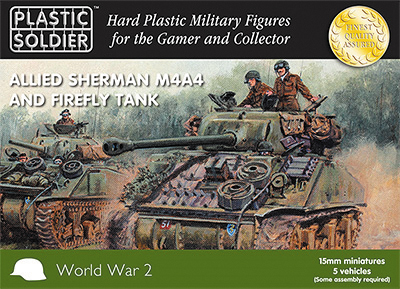 15mm Easy Assembly: Sherman M4a4 And Firefly Tank Box Front