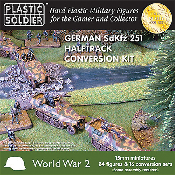 15mm Easy Assembly: German Sdkfz 251 D Conversion Kit Box Front
