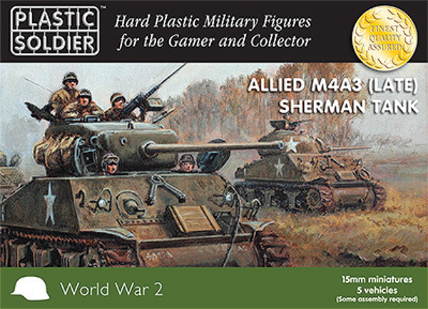 15mm Easy Assembly: Sherman M4a3 Late Tank Box Front