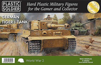 15mm Easy Assembly: German Tiger I Tank Box Front