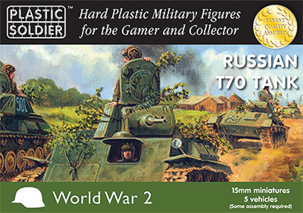 15mm Easy Assembly: Russian T70 Tank Box Front