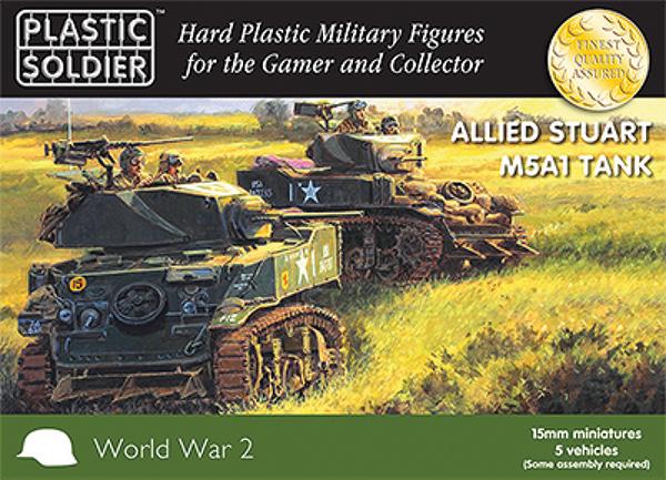 15mm Easy Assembly: Stuart M5 Tank Box Front