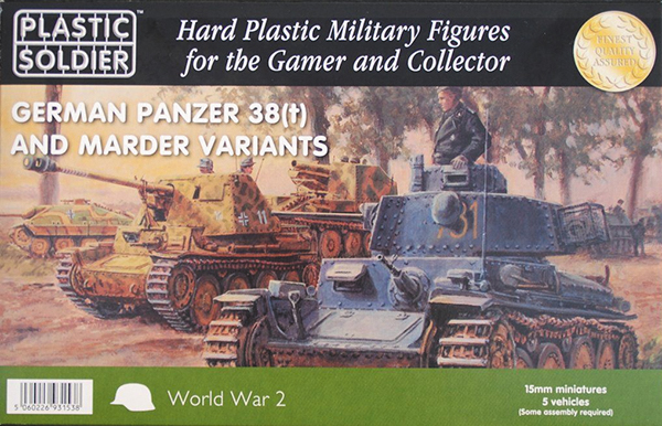 15mm Easy Assembly: Pz 38t And Marder Variants Box Front