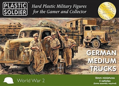 15mm Easy Assembly: German Medium Trucks Box Front