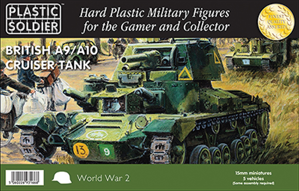 15mm Easy Assembly: British A9 A10 Cruiser Tank Box Front