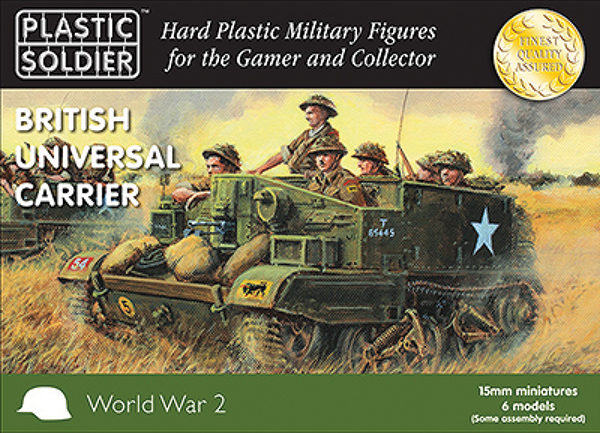 15mm Easy Assembly: British And Commonwealth Universal Carriers Box Front