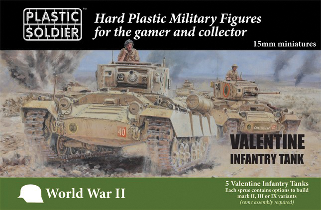 15mm Easy Assembly: British Valentine Tank Box Front
