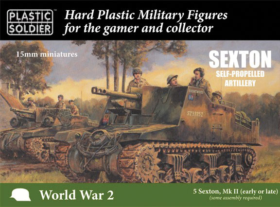 15mm Easy Assembly: Sexton Self Propelled Artillery Game Box