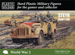 15mm Easy Assembly:  German Steyr Heavy Car Game Box