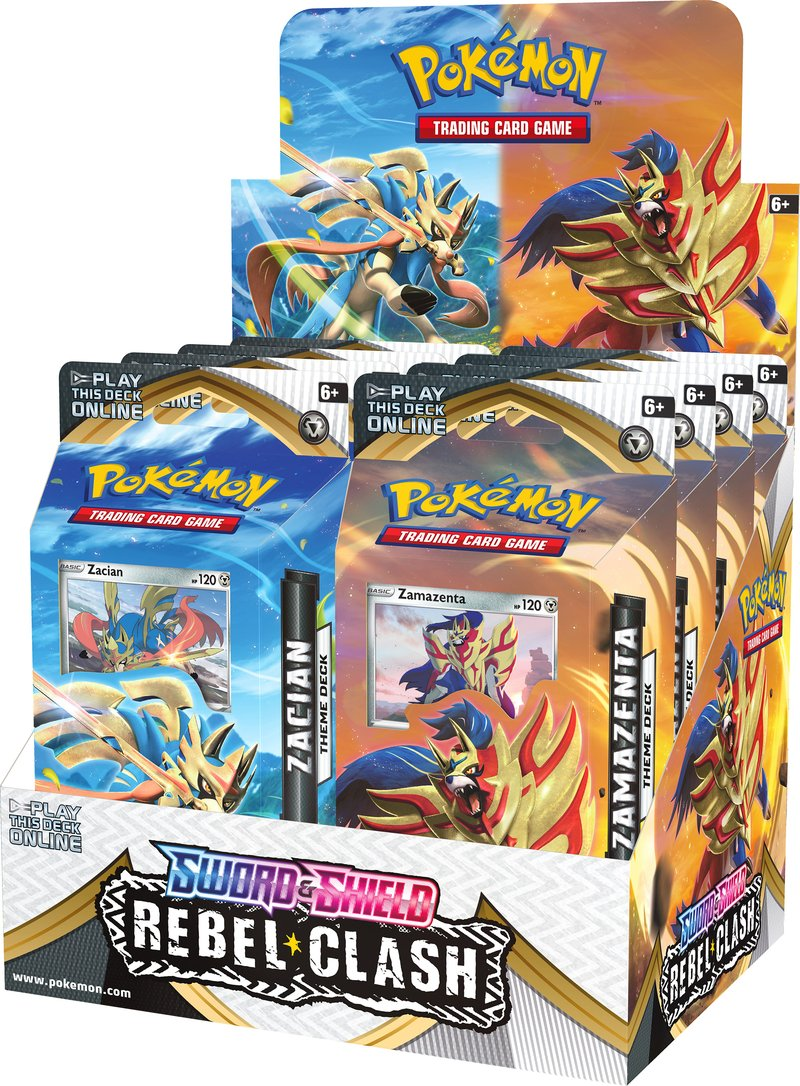 Pokemon Tcg: Sword & Shield - Rebel Clash Theme Deck Display (8)