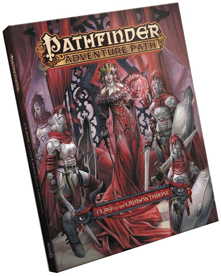 Pathfinder Rpg: Adventure Path - Curse Of The Crimson Throne Hardcover Box Front