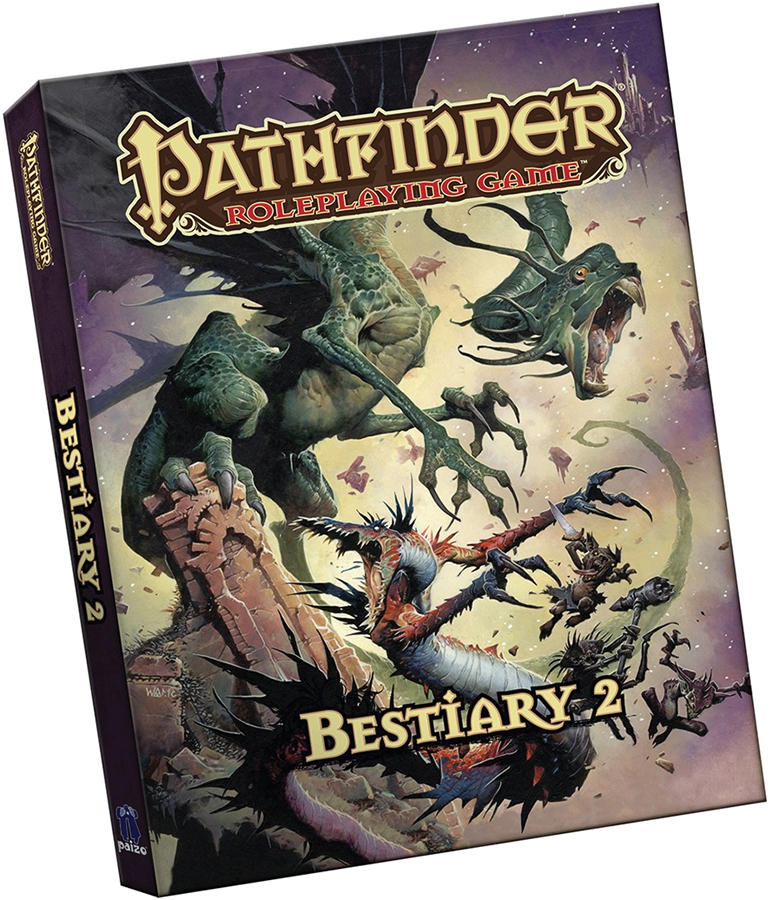 Pathfinder Rpg: Bestiary 2 (pocket Edition) Box Front