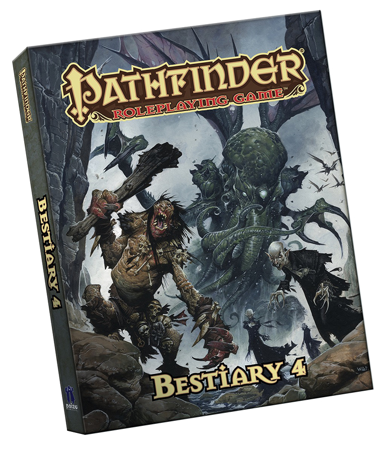 Pathfinder Rpg: Bestiary 4 (pocket Edition) Box Front