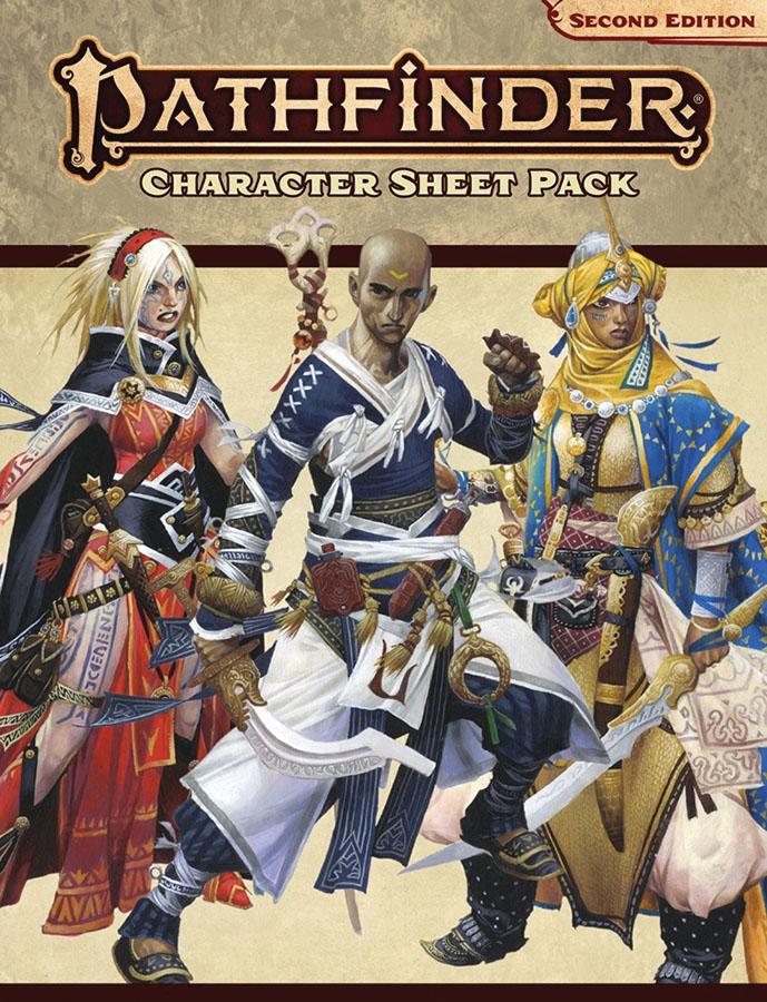 Pathfinder Rpg: Character Sheet Pack (p2) Game Box