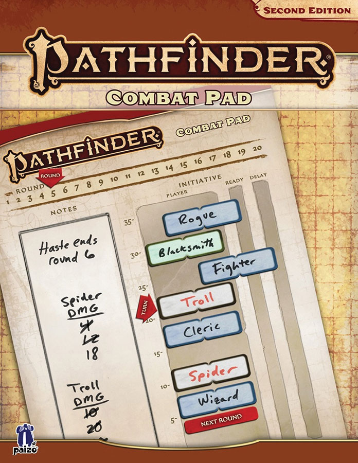 Pathfinder Rpg: Combat Pad (p2) Game Box
