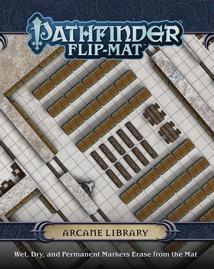 Pathfinder Rpg: Flip-mat - Arcane Library Box Front
