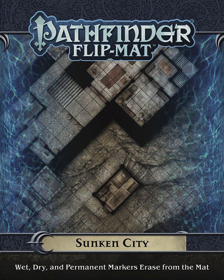 Pathfinder Rpg: Flip-mat - Sunken City Box Front