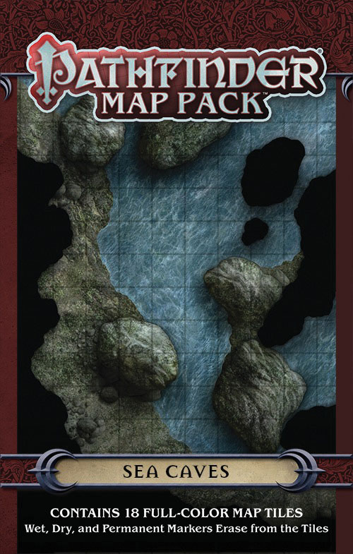 Pathfinder Rpg: Map Pack - Sea Caves Box Front