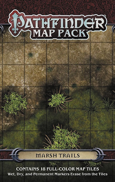 Pathfinder Rpg: Map Pack - Marsh Trails Box Front