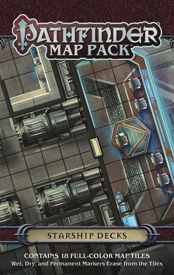 Pathfinder Rpg: Map Pack - Starship Decks Box Front
