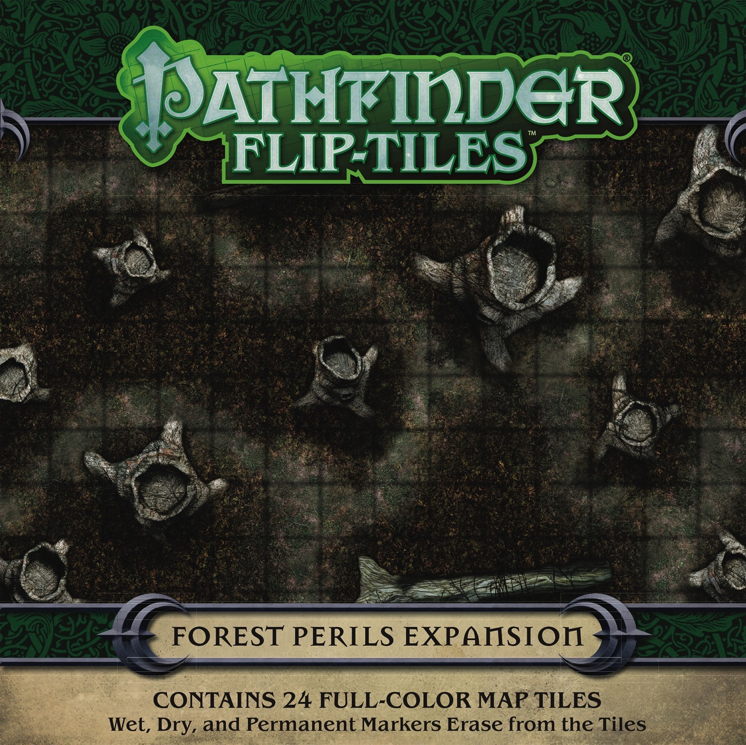 Pathfinder Rpg: Flip-tiles - Forest Perils Expansion Box Front