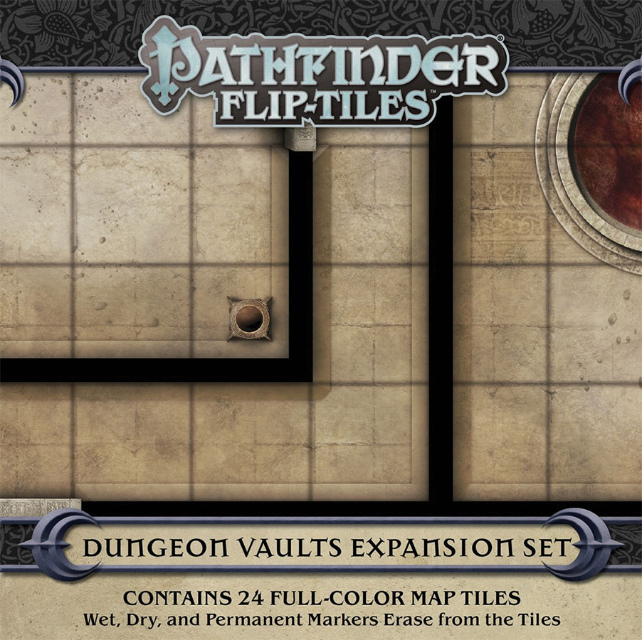 Pathfinder Rpg: Flip-tiles - Dungeon Vaults Expansion Game Box