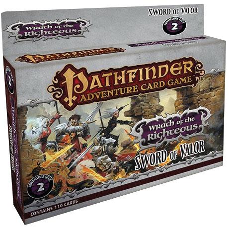 Pathfinder Adventure Card Game: Sword Of Valor Adventure Deck Box Front