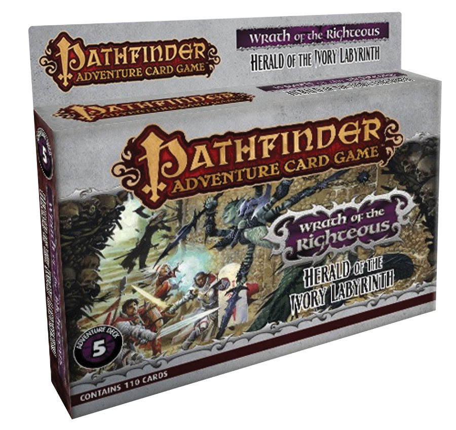 Pathfinder Adventure Card Game: Herald Of The Ivory Labyrinth Adventure Deck Box Front