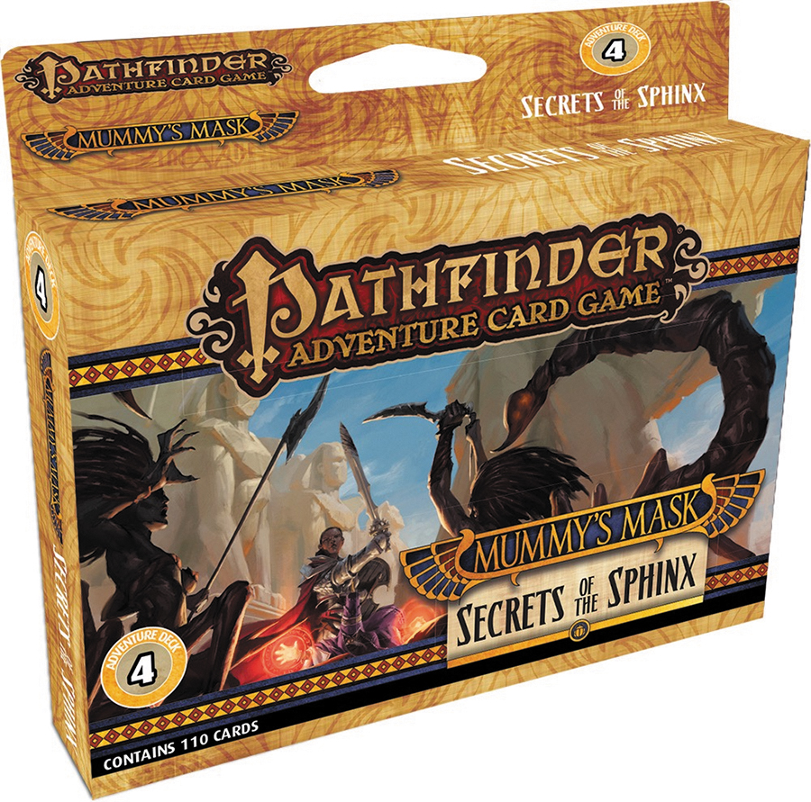 Pathfinder Adventure Card Game: Mummy`s Mask Adventure Deck 4 - Secrets Of The Sphinx Box Front