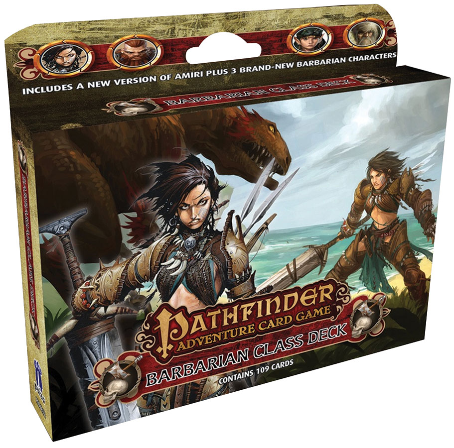 Pathfinder Adventure Card Game: Barbarian Class Deck Box Front