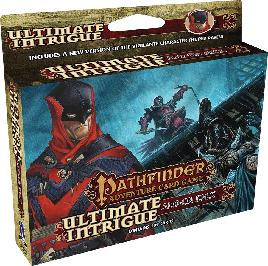 Pathfinder Adventure Card Game: Ultimate Intrigue Add-on Deck Box Front