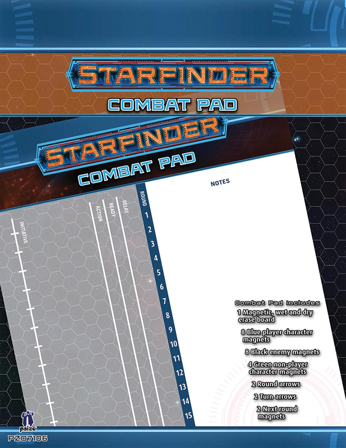 Starfinder Rpg: Combat Pad Box Front