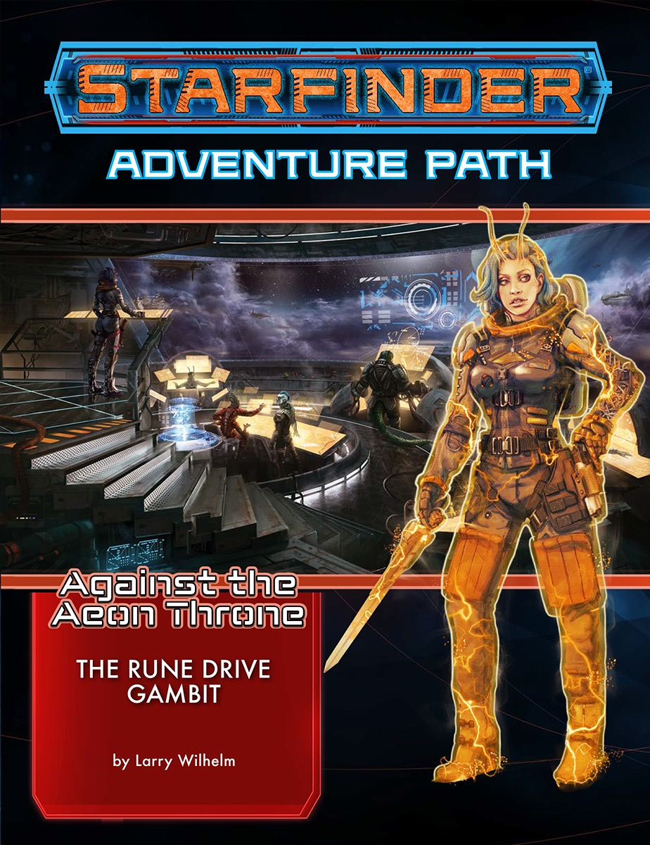 Starfinder Rpg: Adventure Path - Against The Aeon Throne 3 - The Rune Drive Gambit Box Front