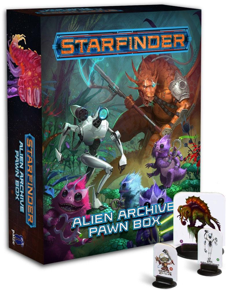 Starfinder Rpg: Pawns - Alien Archive Pawn Box Box Front