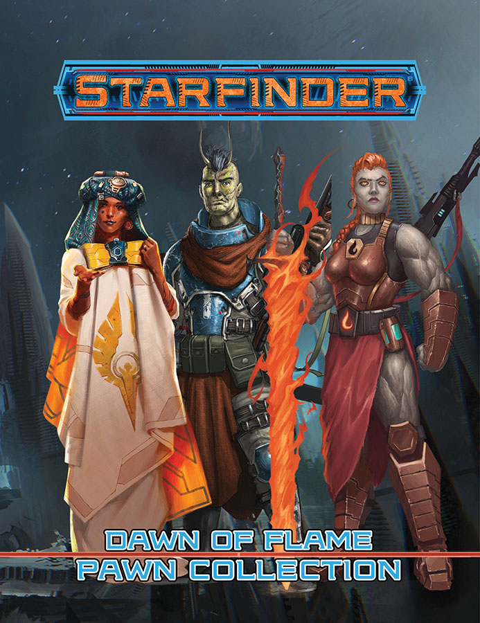 Starfinder Rpg: Pawns - Dawn Of Flame Pawn Collection Game Box