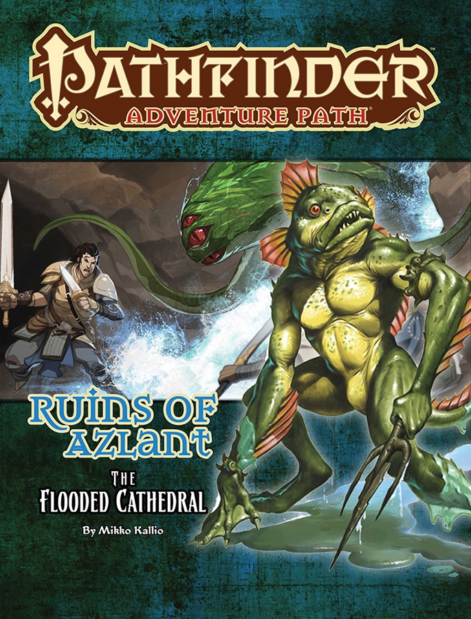 Pathfinder Rpg: Adventure Path - Ruins Of Azlant Part 3 - The Flooded Cathedral Box Front