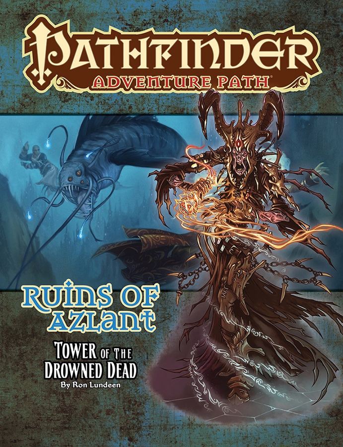 Pathfinder Rpg: Adventure Path - Ruins Of Azlant Part 5 - Tower Of The Drowned Dead Box Front