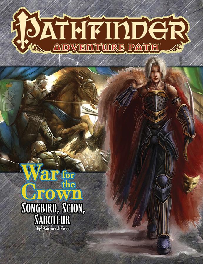 Pathfinder Rpg: Adventure Path - War For The Crown Part 2 - Songbird Scion Saboteur Box Front