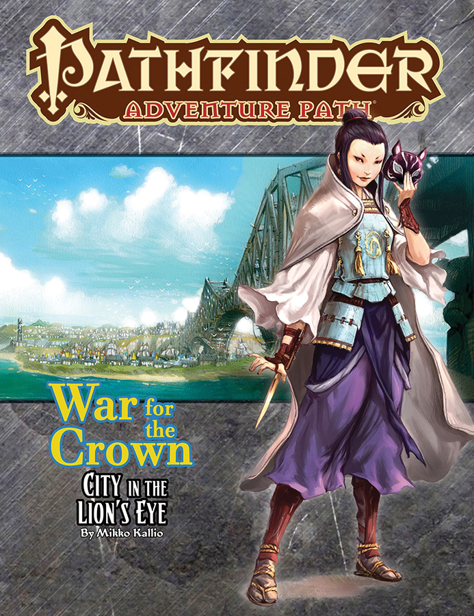 Pathfinder Rpg: Adventure Path - War For The Crown Part 4 - City In The Lion`s Eye Box Front