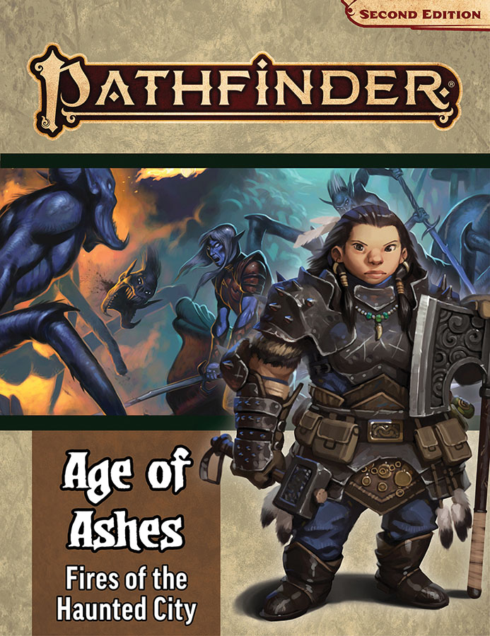 Pathfinder Rpg: Adventure Path - Age Of Ashes Part 4 - Fire Of The Haunted City (p2) Game Box