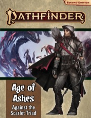 Pathfinder Rpg: Adventure Path - Age Of Ashes Part 5 - Against The Scarlet Triad (p2) Game Box