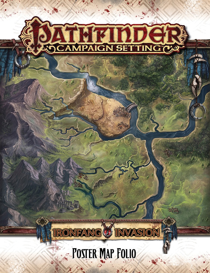 Pathfinder Rpg: Campaign Setting - Ironfang Invasion Poster Map Folio Box Front