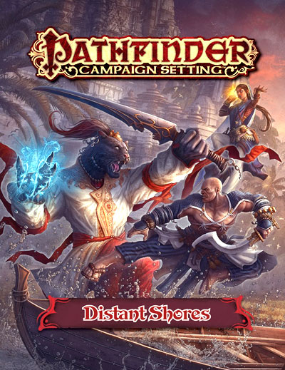 Pathfinder Rpg: Campaign Setting - Distant Shores Gazetteer Box Front