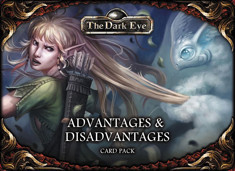 The Dark Eye Rpg: Advantages And Disadvantages Card Set Box Front