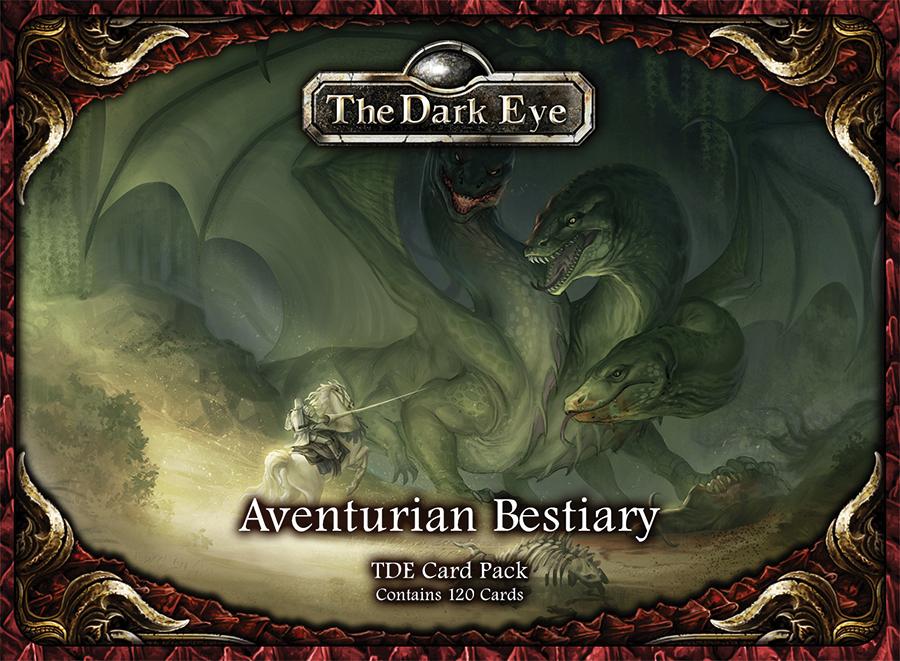 The Dark Eye Rpg: Aventurian Bestiary Card Pack (120) Box Front