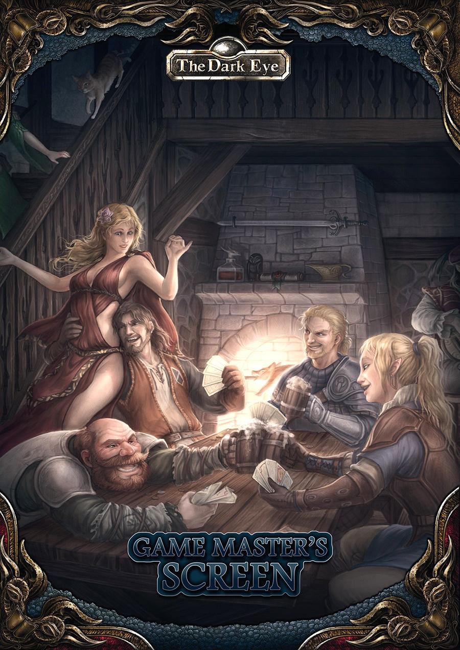 The Dark Eye Rpg: Gamemaster`s Screen And Tavern Guide Box Front